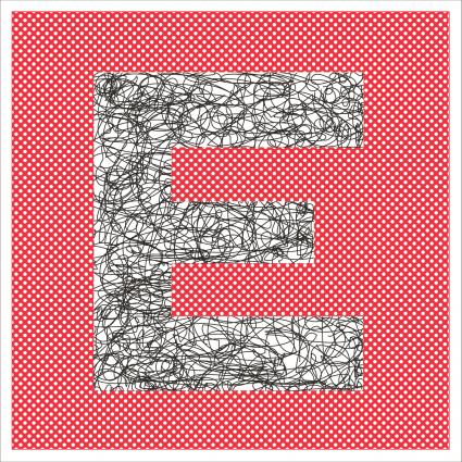 8x8 letter E design